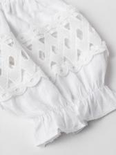 Sweet Off Shoulder Lace Patchwork Crop Blouse
