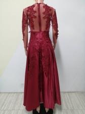 Large Hem Sequin Decor Long Evening Dress