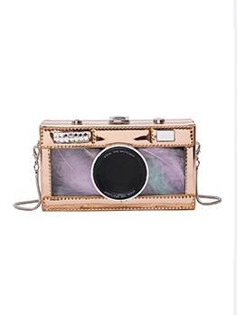 Vintage Camera Shape Patchwork Box Shoulder Bags