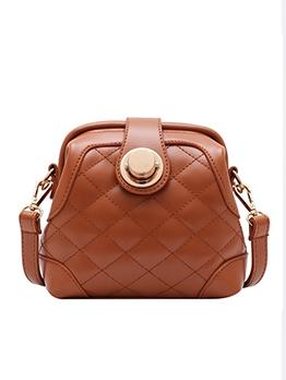 Detachable Strap Rhombus Lattice Solid Shoulder Bags