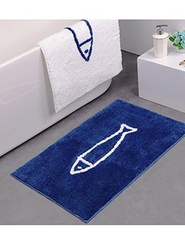 Cartoon FlockPrinting Non-Slip Water Absorption Doormat
