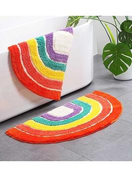 Rainbow Semicircle Shape Anti-Slip Funny Doormats