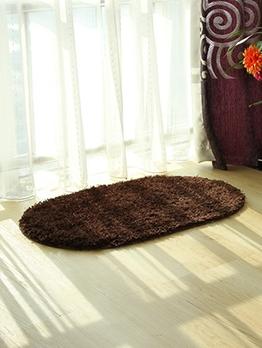 Solid Oblong Non-Slip Eco-Friendly Floor Mat