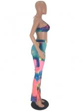 Tie Dye Halter Two Piece Pants Set