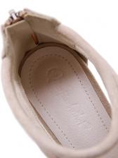 Metal Splicing Platform Open Toe Sandals