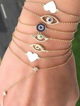 Eyes Love Shape Layers Bracelet Design