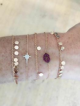 Simple Design Layered Chain Bracelet