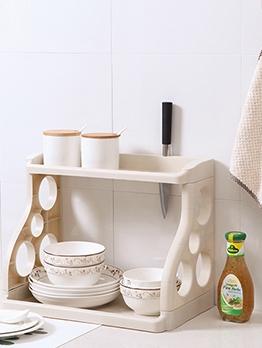 Double-Layer Kitchen Racks Home Seasoning Bottle Storage Rack Multi-Function