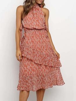 Leisure Ruffled Trim Off Shoulder Summer Dresses