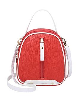 Litchi Grain Detachable Strap Small Crossbody Bags