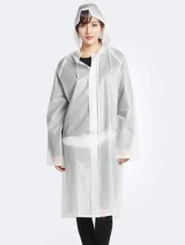 Pure Color Water Proofing EVA Raincoat