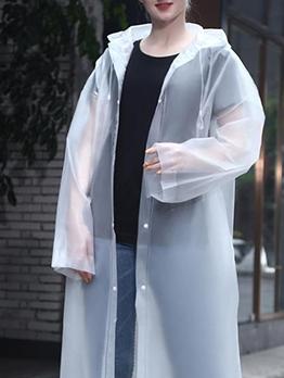 EVA Hooded Solid Long Durable Rain Coat