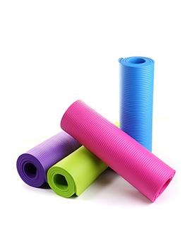Lightweight Multi-functional Exercise 183*61*0.8 Yoga Mat With Bandage