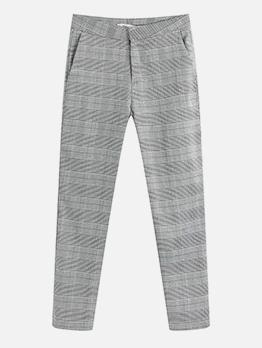 Work Style Plaid High Waisted Pants