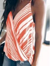 Trendy V Neck Striped Cami Top