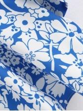 Vintage Ruffled Sleeve Printed Blouse