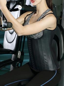 Black Vest Waist Trainer Steel Boned Corset