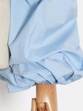 Chic Design Lantern Sleeve Off Shoulder Blouse
