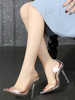PVC Transparent Pointed Stiletto Heels