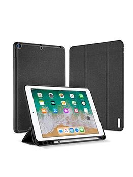 Pencil Slot Intelligent Sleeping Leather Case For Ipad 7 10.2