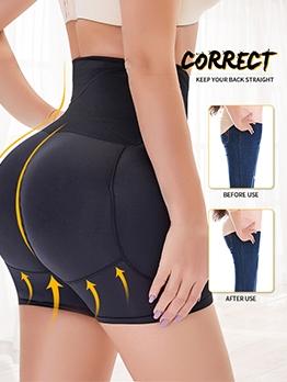 Sport High Slim Waist Plus Size Short Pants