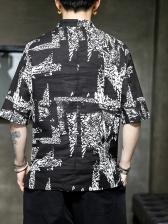 National Tribal Print Half Sleeve Tee Shirts