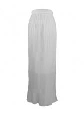 Casual High Slit Pleated Long Skirt