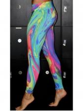 Sport Tie Dye High Waist Leggings For Women