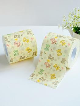 Cute Bear Printed Household Tissue Rolls