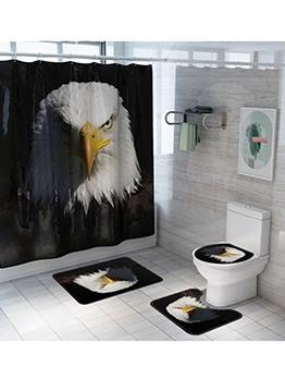 Fashion Eagle Pattern Shower Curtain Doormat Sets