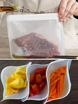 Translucent 21.5*18cm PEVA Frosted Food Storage Bag