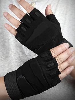 Half Finger Training Non-Slip Black Wrist Guard Gloves