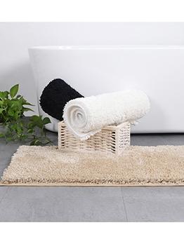 Solid Waterproof Flocking Fluffy Doormat