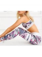 Digital Print Crop Top 2 Piece Yoga Clothes