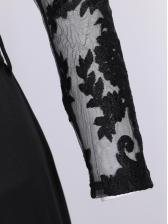 Lace Panel Wide Leg Off The Shoulder Jumpsuit