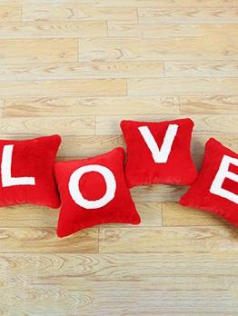 Decorative Letter Love No Insert Square Pillowcase