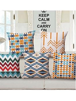 Bohemian Geometric Printed Square Pillow Cases