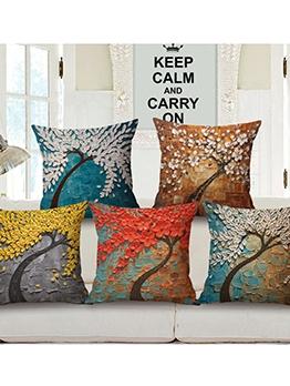 Creative 3D OilPainting Printed Cotton Linen Pillowcases