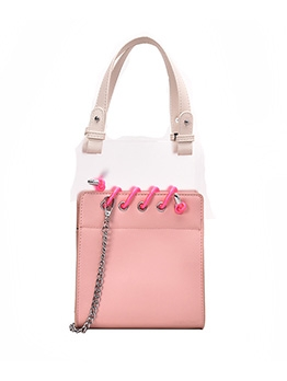 Coil Stitching Transparent PVC Stylish Shoulder Bag