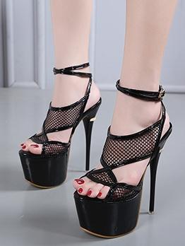 Newest Hollow Stiletto Platform Heel Sandal
