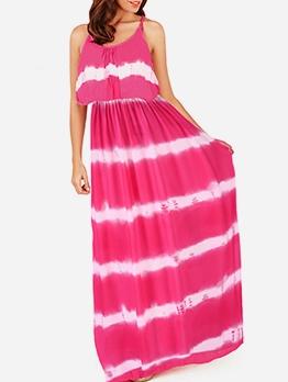 Sleeveless Loose Tie Dye Maxi Dress