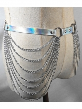 Punk Style Side Multiple Silvery Chains Belts For Women