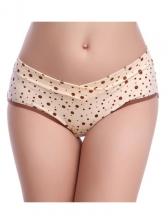 Low-Waist Dots Cotton Underwear For Pregnant Women