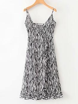 Summer Slip Ladies Animal Printed Maxi Dress