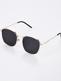 Pure Color Lenses Square Frame Unisex Cheap Sunglasses