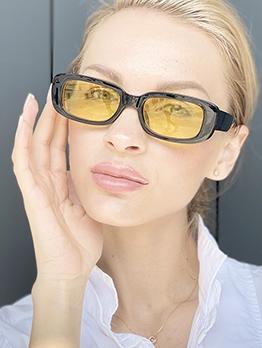 Retro PC Rectangle Frame Cheap Sunglasses