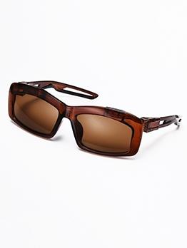 Simple Design Rectangle Frame Sports Sunglasses