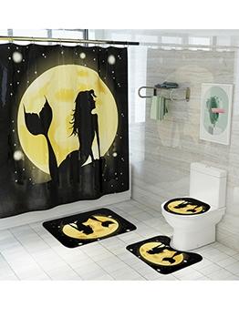 Mermaid With Shower Curtain Sets Bathroom Doormat