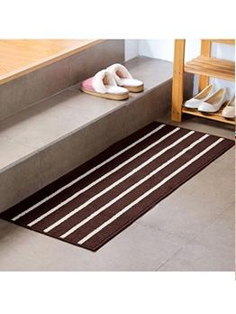 Classic Striped Square Anti-Slip Door Rug
