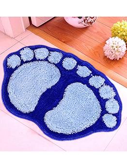 Cute Flocking Footed Shape Non Slip Doormat
